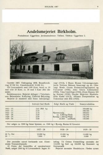 Fra bogen Dansk Mejeristat fra 1931.