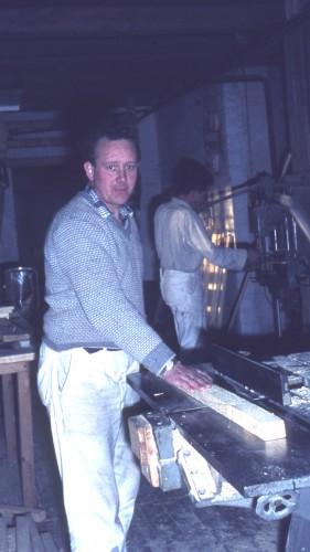 Tømrermester Tage Johansen Foto: Inge Jensen i 1962