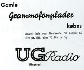 Annonce Grammofonplader købes