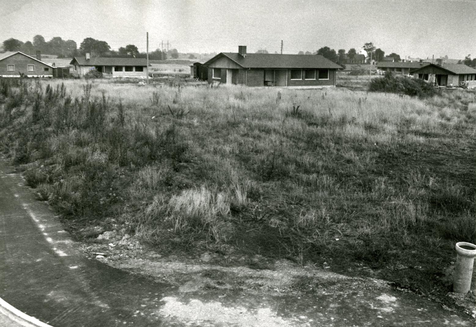 Pipkvarteret mellem Østrupvej og Brændholtvej sept. 1969
