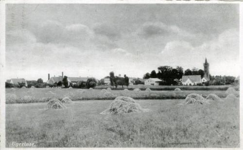 Ugerløse ca. 1940 - Billede 47 Byen set fra marken omtrent der hvor Pileager i dag ligger.