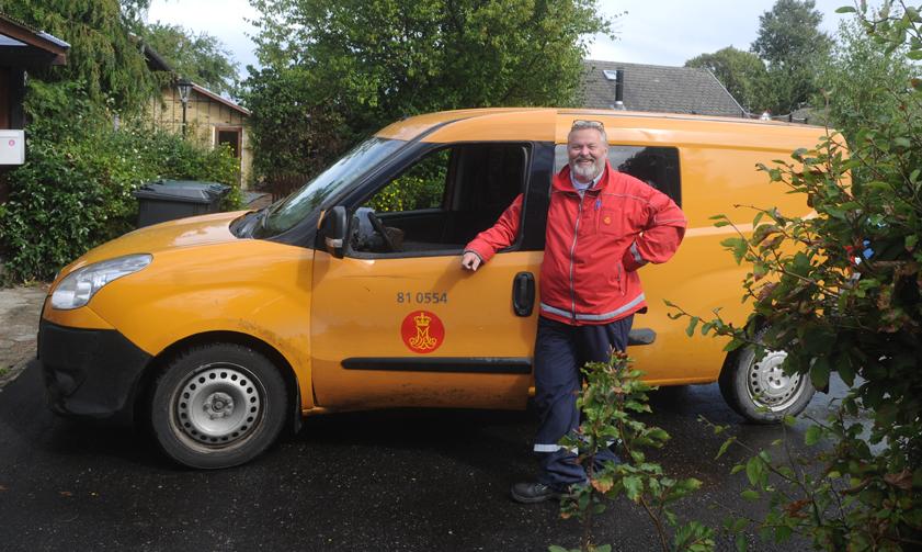 Artiklens forfatter i postens tjeneste 2007-2015 som postbud i Ugerløse m.m.