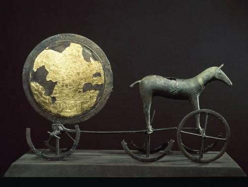 Solvognen fra Trundholm Mose. Foto: Nationalmuseet