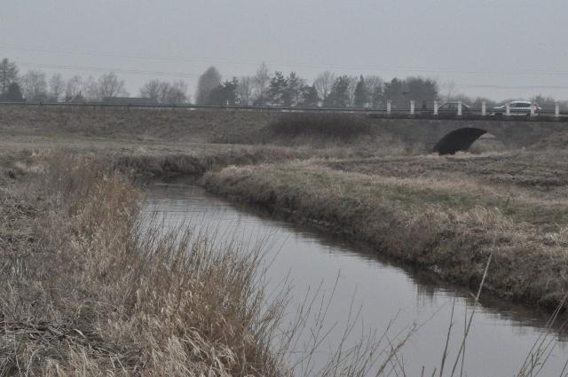 Ugerløse bro på vejen mod Stenmagle. I gamle dage et centralt overfartssted over Åmosen.